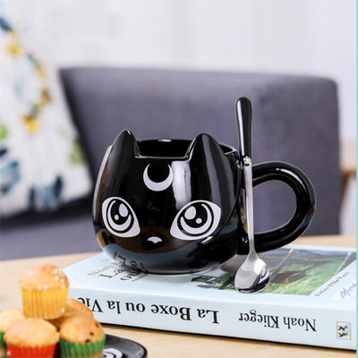 Black Cat Ceramic Mug