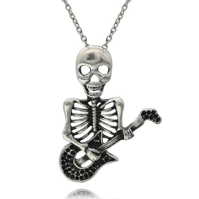 The Guitar Skull Necklace