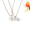 Couple Matching Puzzle Pendant Necklaces (2pcs)