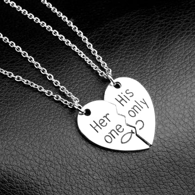 A Heart Couple Necklaces
