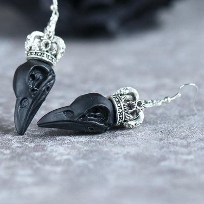 Gothic Raven Earrings