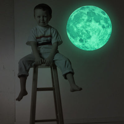 5 Colors 3D Luminous Planet Moonlight Wall Sticker