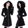 Gothic Moon Zip-up Hooded Dress