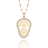 Flower Hollow Skull Necklace