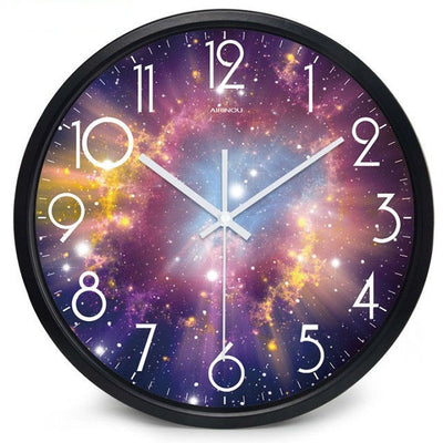 Moon Starry Sky And MarsSilent Movement Wall Clock