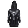 Gothic Skull Angel Wings Hooded Jacket