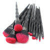 Pink/Black Diamond Makeup Brush Set