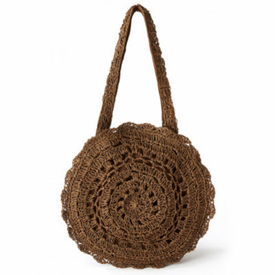 Bohemian Handmade Knitted Straw Bag