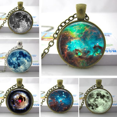 Nebula Galaxy Space Pendant Necklace