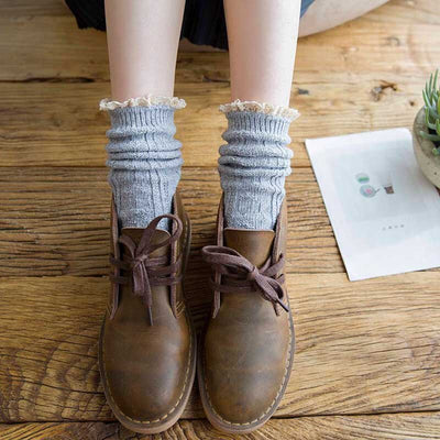 Lace Design Hollow Out Socks