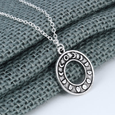 Free - Moon Phase Circle Necklace