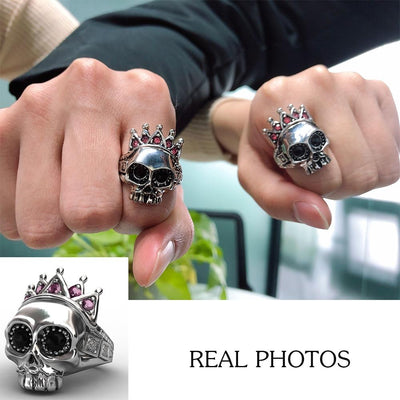 Pink Crown Skull Ring