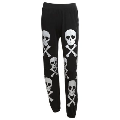 Casual Plus Size Skull Trousers