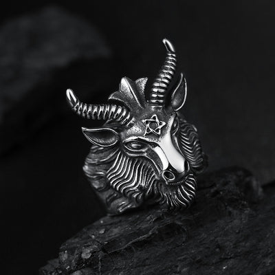 Free - Big Goat Horn Head Ring