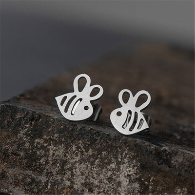 Tiny Bee Stud Earrings