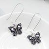 Butterfly Skull Dangle Earrings