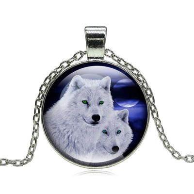 12 Colors Wolf Moon Pendant Necklace