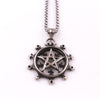 Gothic Pentagram Sun Necklace