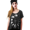 Moon Phase Black T-shirt