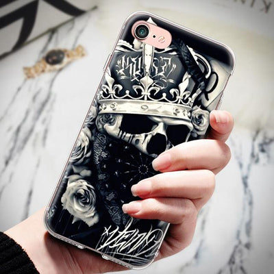 Black Skull iPhone Case