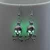 Glowing Skull Punk Earrings