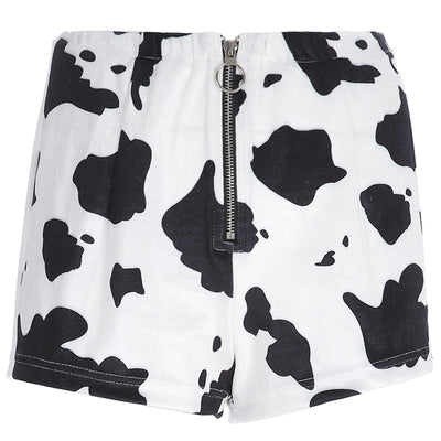 Cow Printed Shorts