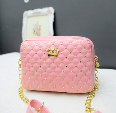 Crown Mini Rivet Shoulder Bag