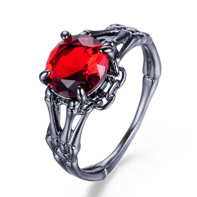 Free - Skeleton Hand Stone Ring