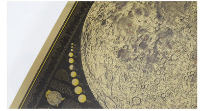 72*48cm Vintage Poster World Map Moon