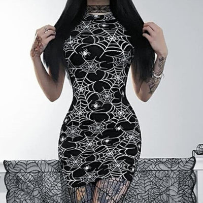 Spider Web Bodycon Dress