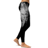 White Devil Wings Fitness Leggings