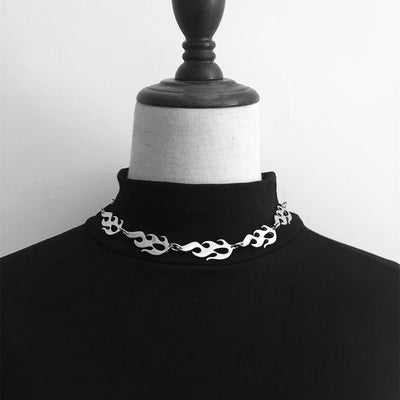 Flame Chain Choker Necklace