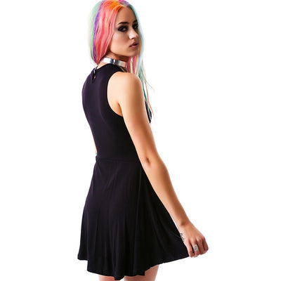 Punk Style Moon Star Print Dress