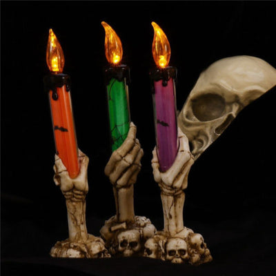 Halloween Skeleton LED Candle