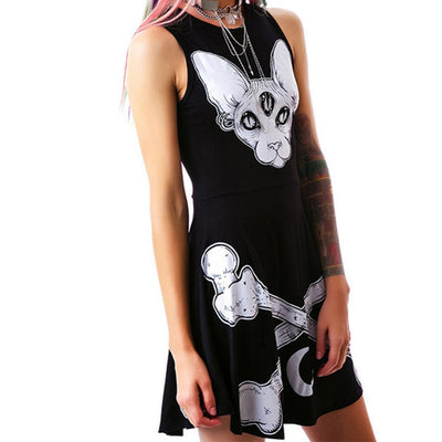 Three Eyes Skull Bone Dress