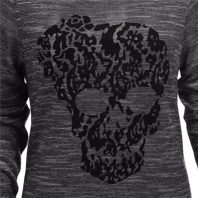 Skull Slash Neck Sweatshirt