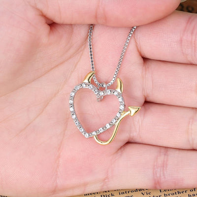 Devil Heart Pendant Necklaces