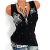 Gothic Zipper V Neck Tank Top