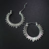 Free - Gothic Vintage Spike Round Earrings