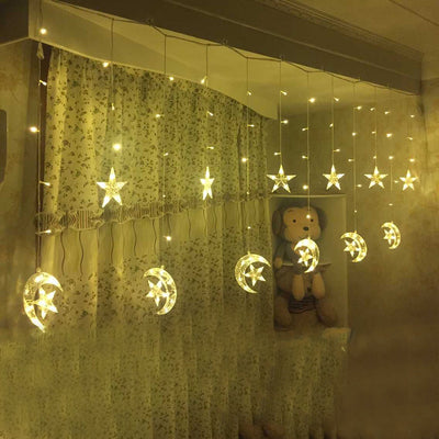 250cm Romantic Moons With Stars String Strip Light
