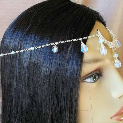 Moon Crystal Pendant Forehead Headband