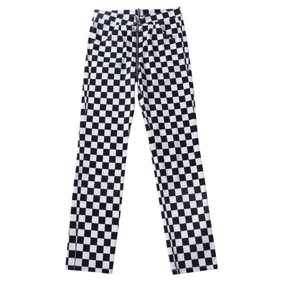 Checkered Zip Up Pants