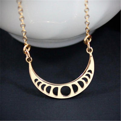 Crescent Moon Phase Necklace