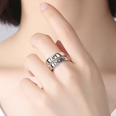 "925 Sterling Silver ""I Am Enough"" Ring"