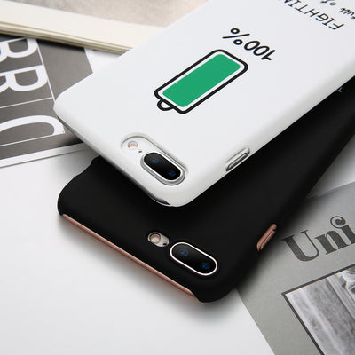 Couple Battery Pattern iPhone Case