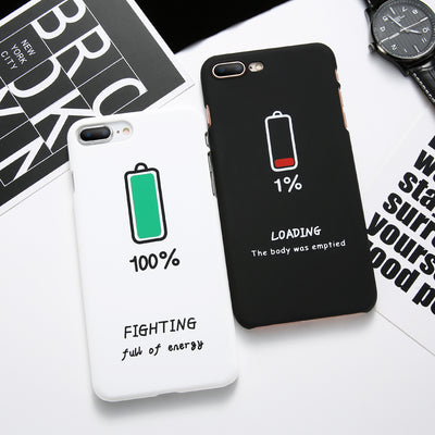 huge selection of 6079f 5f887 Couple Battery Pattern iPhone Case