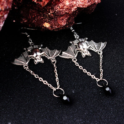 Retro Bat Pentagram Earrings Collection
