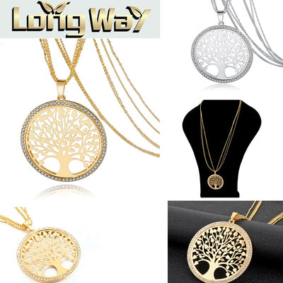 Round Tree of Life Necklace