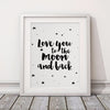 Love You to The Moon and Back Wall Canvas Decor