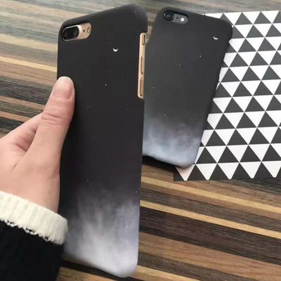 Lovely Moon Black Printed iPhone Case